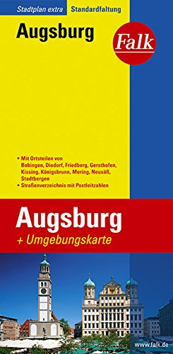 Falk Stadtplan Extra Standardfaltung Augsburg: Mit Ortsteilen: Augsburg