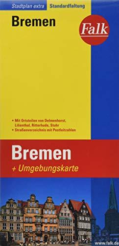 9783827922380: Falk Stadtplan Extra Standardfaltung Bremen mit Umgebungskarte: Mit Ortsteilen von Delmenhorst, Lilienthal, Ritterhude, Stuhr. Straßenverzeichnis, Postleitzahlen