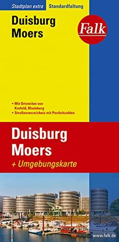 9783827922762: Falk Stadtplan Extra Standardfaltung Duisburg Moers: Mit Ortsteilen von Krefeld, Rheinberg. Straßenverzeichnis mit Postleitzahlen