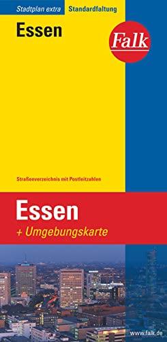 9783827922977: Falk Stadtplan Extra Standardfaltung Essen: Straßenverzeichnis mit Postleitzahlen. Standardfaltung