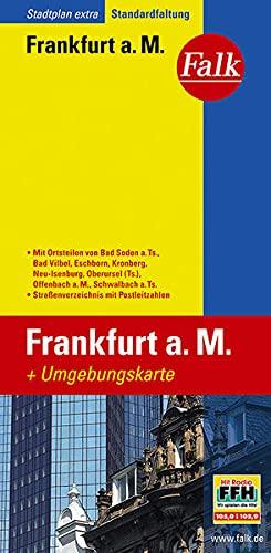 9783827923080: Falk Stadtplan Extra Standardfaltung Frankfurt am Main 1:20 000: Mit Ortsteilen von Bad Soden am Taunus, Bad Vilbel, Eschborn, Kronberg, Neu-Isenburg, ... mit Postleitzahlen (Falkplan Falk-Faltung)