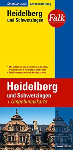 9783827923677: Falk Stadtplan Extra Standardfaltung Heidelberg und Schwetzingen mit Ortsteilen: von Hockenheim, Leimen, Neckargemünd, Nußloch, Sandhausen 1:17 500