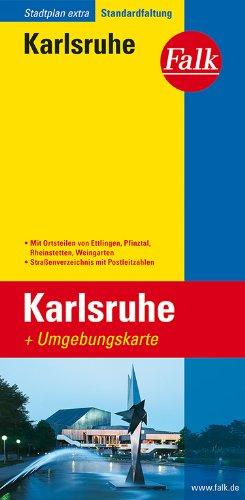 Falk Stadtplan Extra Karlsruhe mit Umgebungskarte