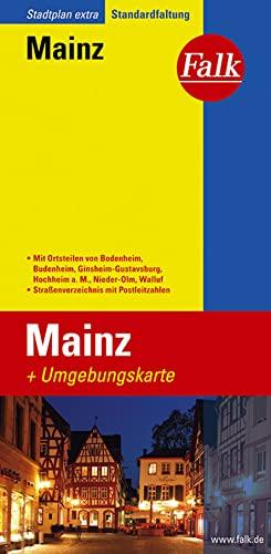 Mainz: Mit Ortsteilen Von Bodenheim, Budenheim, Ginsheim-Gustavsberg, Hochheim A. M., Walluf. Mit Umgebungskte., Straßenverz. U. Posleitzahlen. Mehrfarbendruck. 1 : 16.000 - Mainz