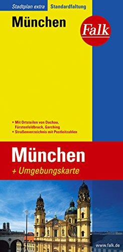 9783827924759: Falk Stadtplan Extra Standardfaltung München 1 : 20 000: Mit Ortsteilen von Dachau, Fürstenfeldbruck, Garching