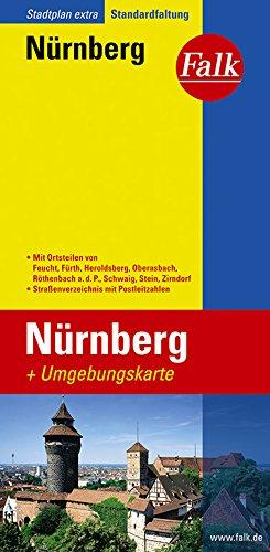 Falk Stadtplan Extra Standardfaltung Nürnberg 1:20 000: Heroldsberg, Oberasbach, Röthenbach a.d.P., Schwaig, Stein, Zirndorf (Sheet map)