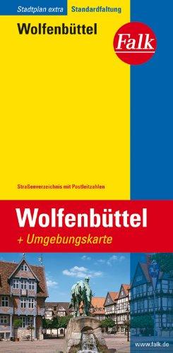9783827926470: Falk Stadtplan Extra Standardfaltung Wolfenb�ttel, 1:17 000: Mit Umgebungskarte, Stra�enverzeichnis, Postleitzahlen