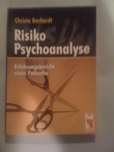 9783828017504: Risiko Psychoanalyse: Erfahrungsbericht einer Patientin (Livre en allemand)