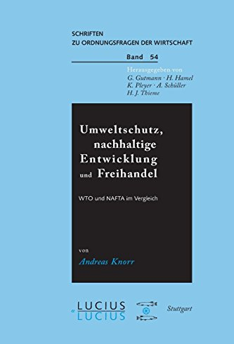Umweltschutz, nachhaltige Entwicklung und Freihandel: WTO und: Andreas Knorr