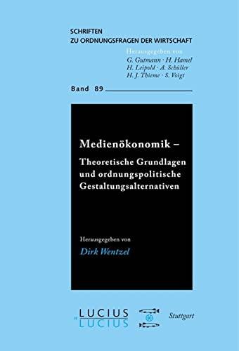 Medienökonomik: Dirk Wentzel