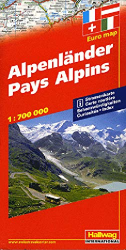 9783828300040: Pays Alpins : 1/700 000: With Touring Information (Road Map)