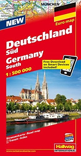 9783828300156: Southern Germany, Road Map