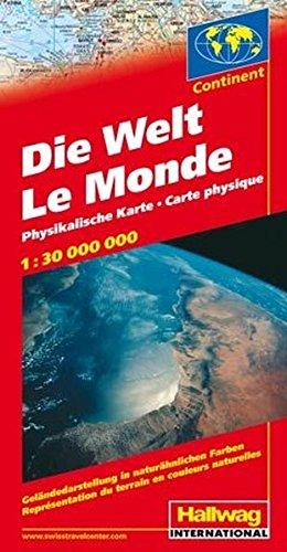 9783828301009: Die Welt 1 : 30 000 000. Physikalische Karte: Geländedarstellung in naturähnlichen Farben