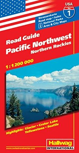 Hallwag USA Road Guide, No.1, Pacific Northwest: Rand McNally and