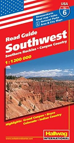9783828302488: Rand McNally Hallwag Road Guide Southwest: Southern Rockies/Canyon Country (USA Road Guides)