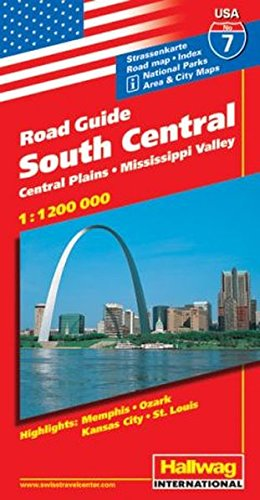 Hallwag USA Road Guide, No.7, South Central: Rand McNally and