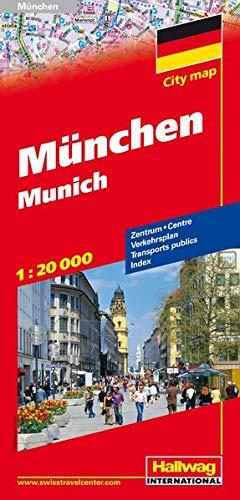 9783828305816: Hallwag Munchen / Munich Road Map