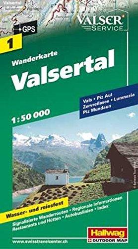 9783828306462: Valsertal: HAL.WK.01 (Wanderkarte)