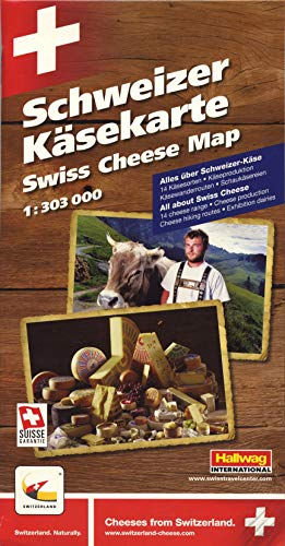 9783828306851: Swiss Cheese Map (Schwizer Kasekarte, Carte Des Fromages Suisses)