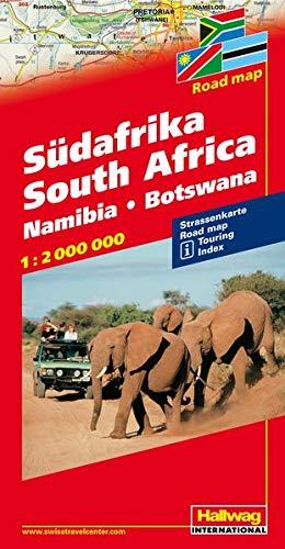 9783828306929: Hallwag Sudafrika South Africa Road Map/ Afrique de Sud Audafrica: Namibia - Botswana