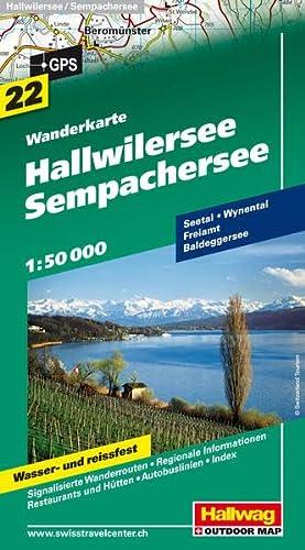 9783828306967: Hallwilersee-Sempachersee 1 : 50.000: Wanderkarte