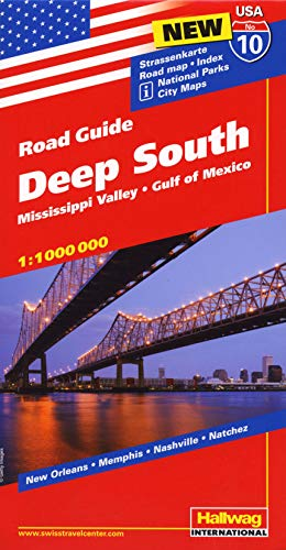 9783828307612: Hallwag USA Road Guide 10 Deep South 1:1.000.000: Mississippi Valley, Gulf of Mexico
