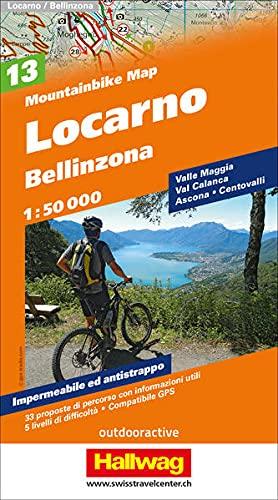 9783828307704: Locarno Bellinzona Bike Map 2014