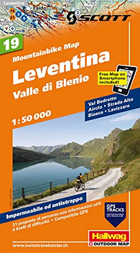 9783828307919: Leventina - Valle die Blenio Bike Map: HAL.WKM.19