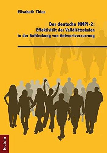 9783828828179: Der deutsche MMPI-2: Effektivität der Validitätsskalen in der Aufdeckung von Antwortverzerrung