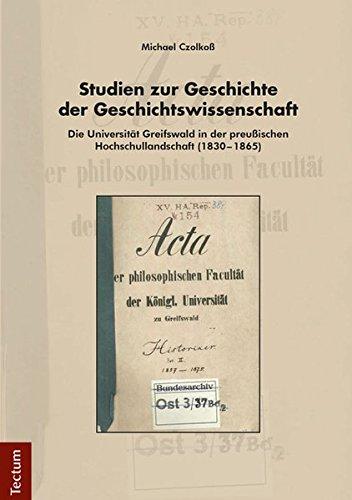 9783828835153: Studien zur Geschichte der Geschichtswissenschaft