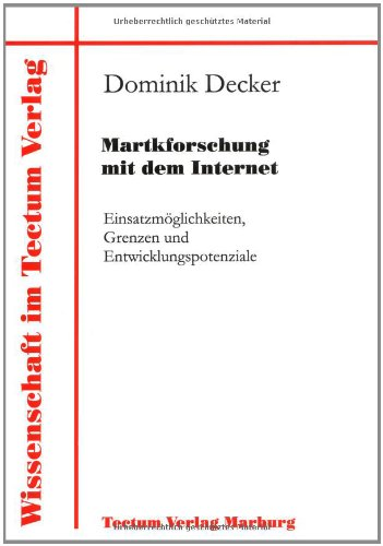 9783828882478: Martkforschung mit dem Internet (German Edition)