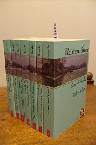 9783828901773: Romantiker. 7 Bde. Lebensansichten des Katers Murr. Dr. Katzenbergers Badereise. Gedichte Novellen Märchen. Erzählende Dichtungen