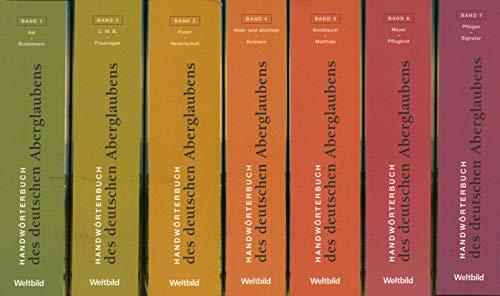 Handwörterbuch des deutschen Aberglaubens in 10 Bänden inkl. Register: B�chtold-St�ubli, ...