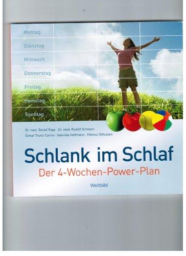 9783828952225: Schlank im Schlaf: Der 4-Wochen-Power-Plan