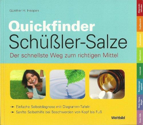 9783828952638: Quickfinder Schüßler-Salze Der einfache Weg zum richtigen Mittel