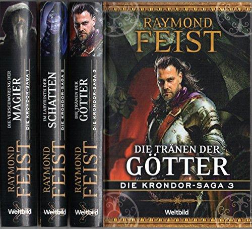 9783828994010: Die Krondor-Saga, Band 1-3: Die Verschwörung der Magier / Im Labyrinth der Schatten / Die Tränen der Götter