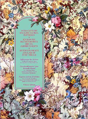 Geschenkpapier von Künstlerhand. Englische Blumenmotive des 18.: Arlene Raven