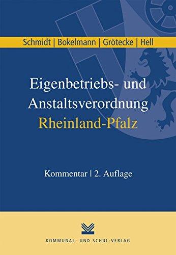 9783829308700: Eigenbetriebs- und Anstaltsverordnung Rheinland-Pfalz