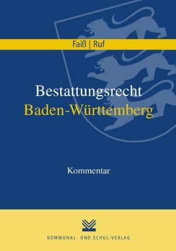 9783829309066: Bestattungsrecht Baden-Württemberg: Kommentar
