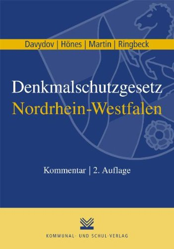 9783829309332: Denkmalschutzgesetz Nordrhein-Westfalen