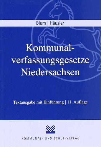 9783829309622: Kommunalverfassungsgesetze Niedersachsen (NKomVG): Neues Niedersächsisches Kommunalverfassungsgesetz (NKomVG), Niedersächsisches Gesetz über die ... (NKomZG). Textausgabe mit Einführung