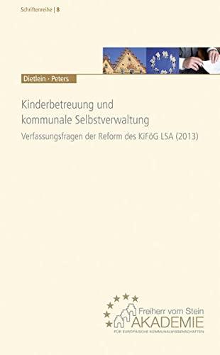 9783829311496: Kinderbetreuung und kommunale Selbstverwaltung