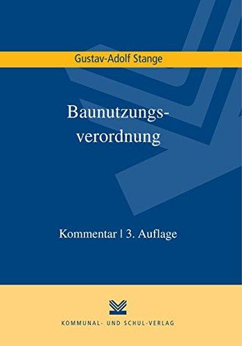 Baunutzungsverordnung: Gustav A Stange
