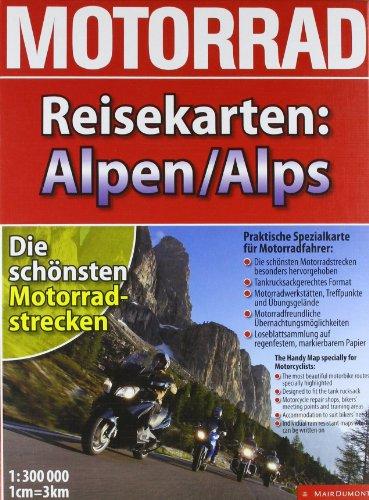9783829719902: Motorrad-Reisekarte Alpen: 1:300.000.Die schönsten Motorradstrecken. Praktische Spezialkarte für Motorradfahrer