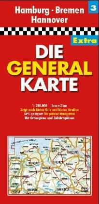 Die Generalkarte von Niedersachsen: Shell Landkarten