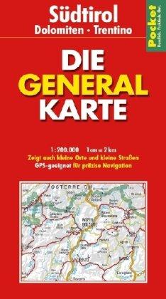 9783829720564: Generalkarte Pocket Südtirol, Dolomiten, Trentino 1 : 200 000