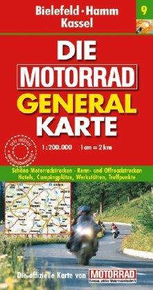 9783829720946: Die Motorrad Generalkarte Deutschland 09. Bielefeld, Hamm, Kassel
