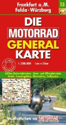 9783829720984: Frankfurt a.m. Fulda Wuerzburg motorrad karte 13
