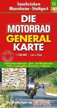9783829721004: Motorrad Generalkarte Deutschland Saarbrücken, Mannheim, Stuttgart 1:200 000