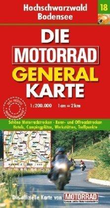 9783829721035: Die Motorrad Generalkarte Deutschland 18. Hochschwarzwald, Bodensee